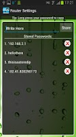 Screenshot of Router Settings