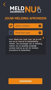 Meld discriminatie nu- screenshot thumbnail
