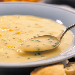 Potato, Cheddar, and Chive Soup.