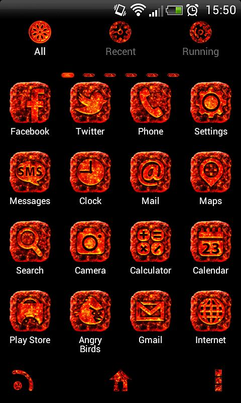 MAGMA Theme GO Launcher EX - screenshot