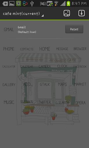 【免費個人化App】Cafe Mint GO Launcher theme-APP點子