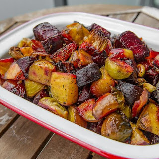 Beet and Brussels Sprout Salad