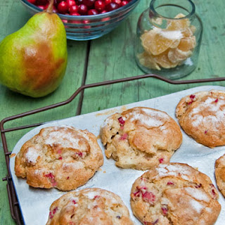 Cranberry, Pear, and Crystallized Ginger Muffins--Fall Baking at It's Best