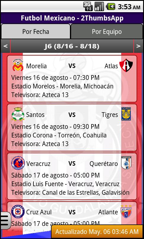 Soccer Mexican League - screenshot