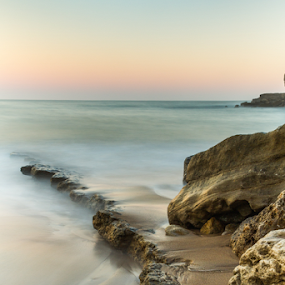 morning sea by Ricardo Marques - Landscapes Beaches ( sea, rock, golden hour, sunset, sunrise )