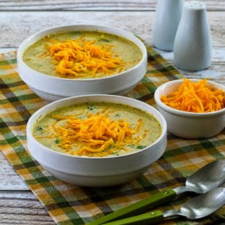 Cheesy Low-Carb Broccoli and Cauliflower Soup.
