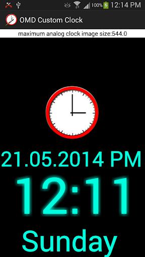 Custom Clock Widget OMD