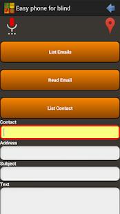 braille sms application for blind user