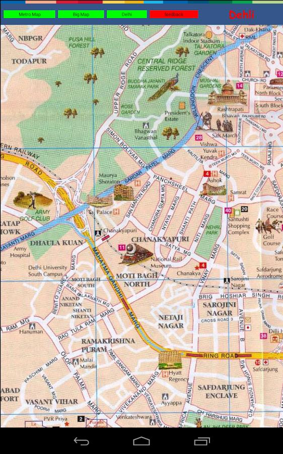 Delhi Metro Map - screenshot