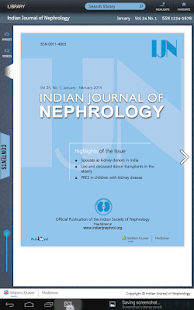 Indian Journal of Nephrology- screenshot thumbnail