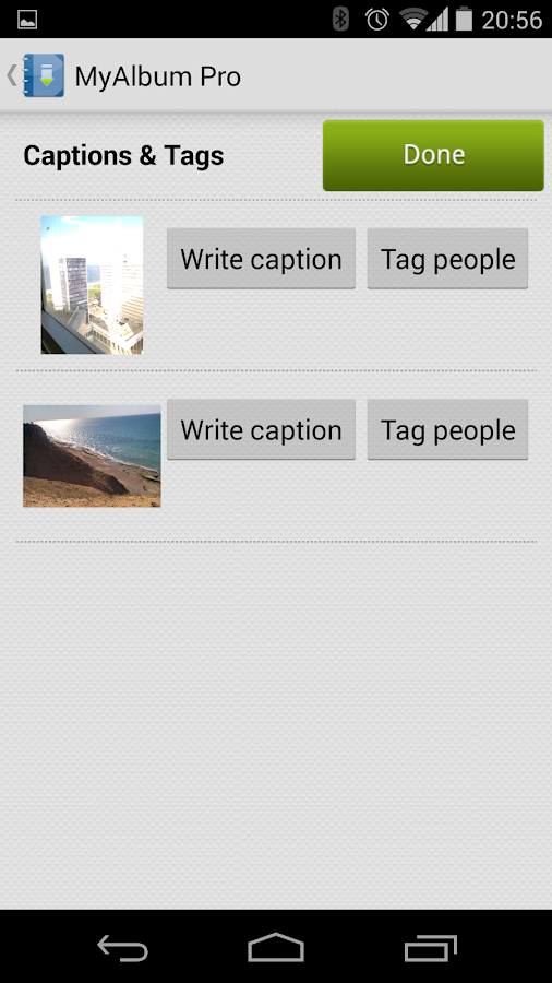 MyAlbum: Social photos manager- screenshot