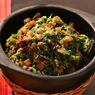 Sicilian-Style Broccoli Rabe with Eggplant and Capers.