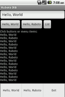 Ruboto IRB (Ruby on Android) - screenshot thumbnail