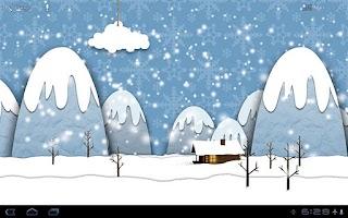 Screenshot of Samsung Parallax Winter LWP