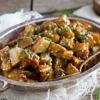 General Tso's roasted potatoes