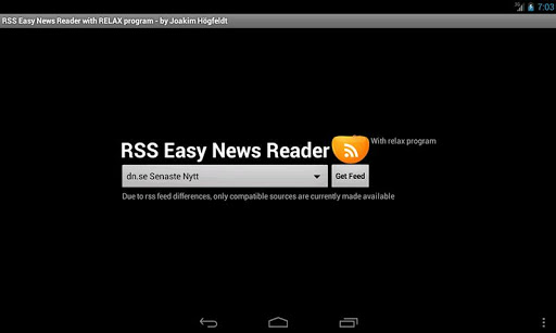 RSS Easy News Reader 2