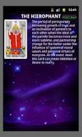 Screenshot of Tarot Reading