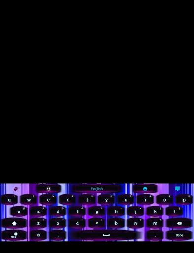 GO Keyboard Neon Stripe Theme