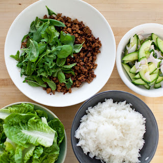 Crispy Thai Pork with Cucumber Salad.