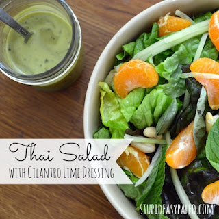 Thai Salad with Cilantro Lime Dressing