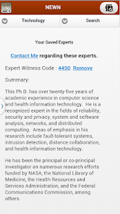 NEWN Expert Witness Search- screenshot thumbnail