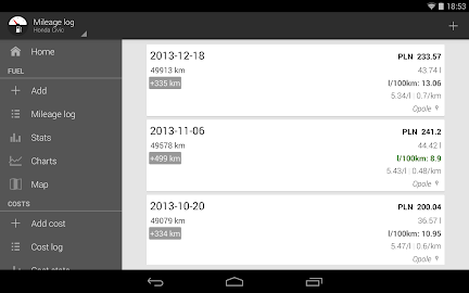 Fuelio: Fuel log & costs Screenshot 15
