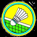 Badminton score logo