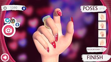 Screenshot of Cute Nail Art Designs Game 3D