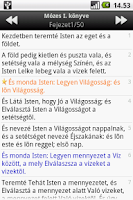 Screenshot of Szent Biblia (Holy Bible)