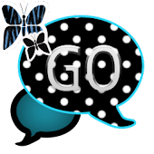 GO SMS THEME/BluePolkaDot