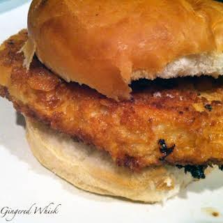 Breaded Pork Tenderloin Sandwich.