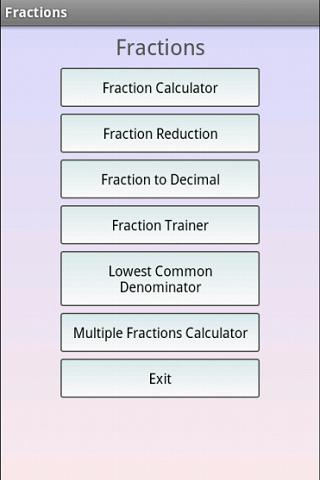 Fractions Math - screenshot