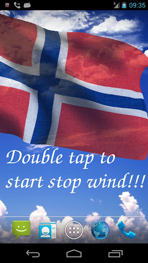 3D Norway Flag Live Wallpaper+