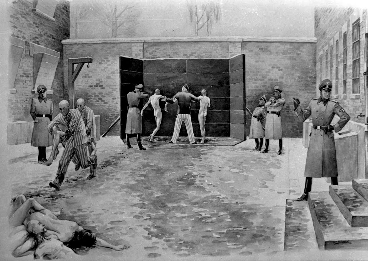 Execution at the death wall in auschwitz google cultural institute
