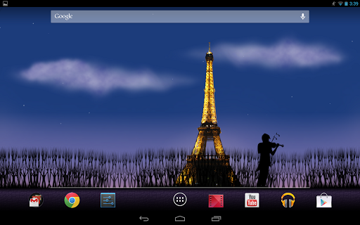 Mon Paris Live Wallpaper Free скачать на планшет Андроид