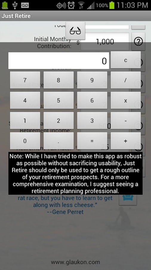 Just Retire (Retirement Calc)- screenshot