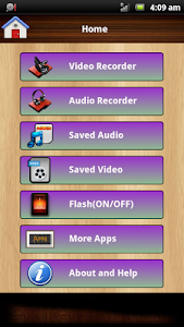Audio and Video Recorder Lite screenshot 0