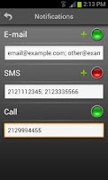 Screenshot of Mobile Alarm System