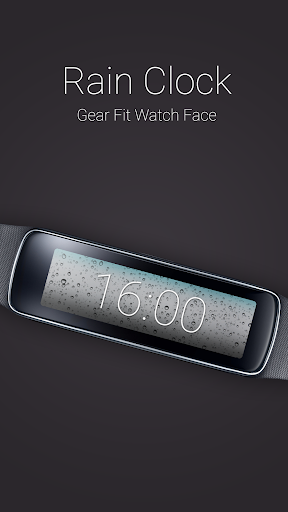 Rain Clock for Gear Fit