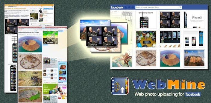 Upload web photos to Facebook