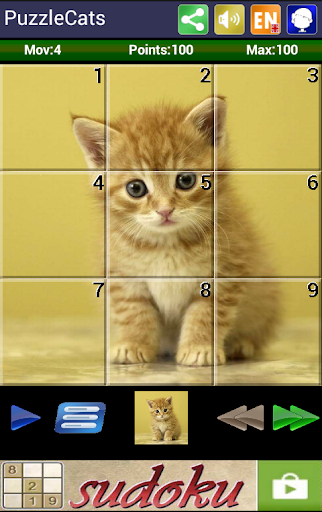 Sliding Puzzle Cats