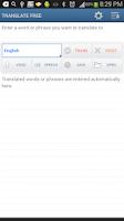 Screenshot of Translate Free