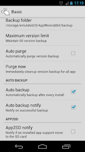 AppWererabbit Backup - screenshot thumbnail