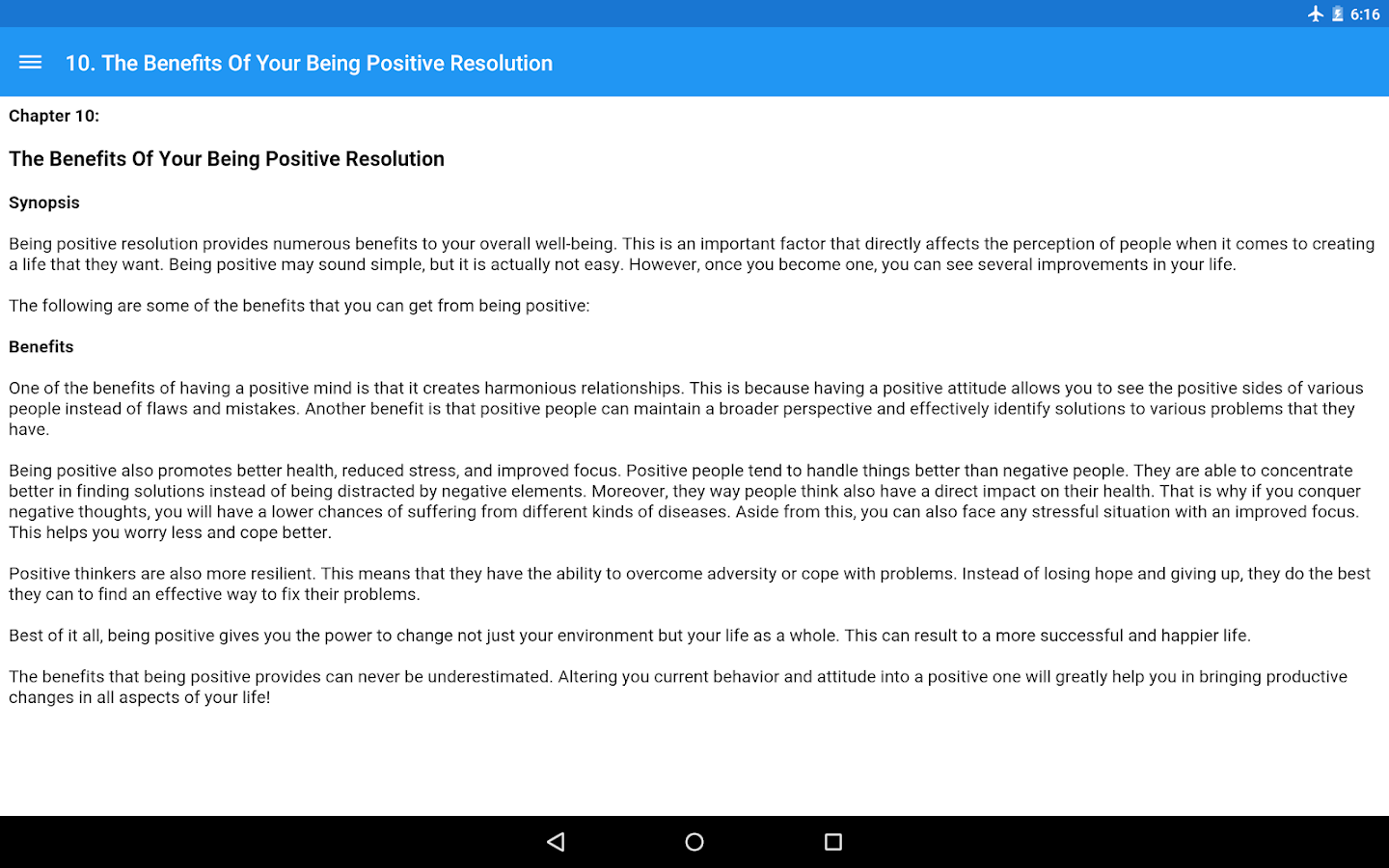 How To Be Positive Apl Android Di Google Play