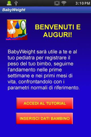 Baby-Weight peso neonato