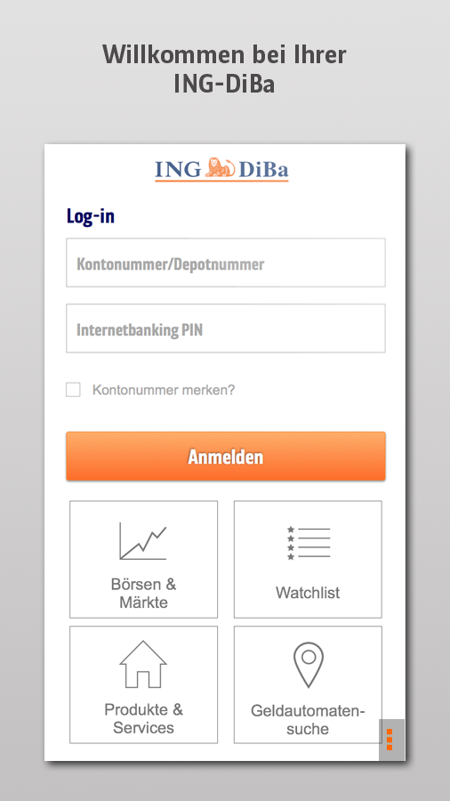 ING-DiBa Banking + Brokerage- screenshot