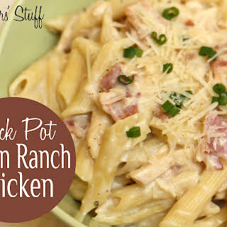 Crock Pot Bacon Ranch Chicken.