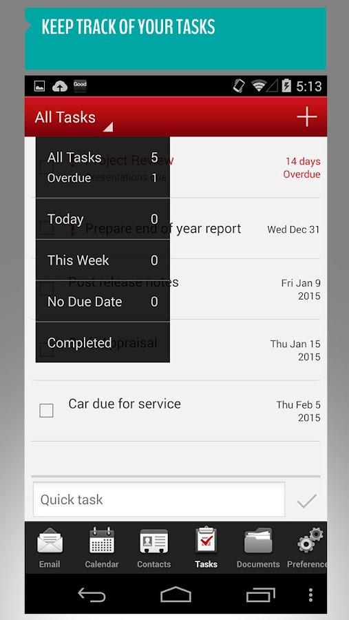 Good for Enterprise™ - screenshot
