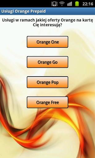 Usługi Orange na kartę