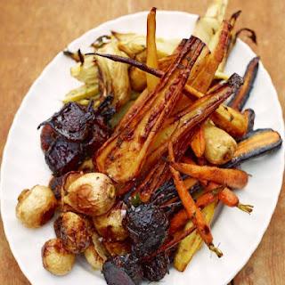 Wood-fired Roasted Vegetable Mega Mix.